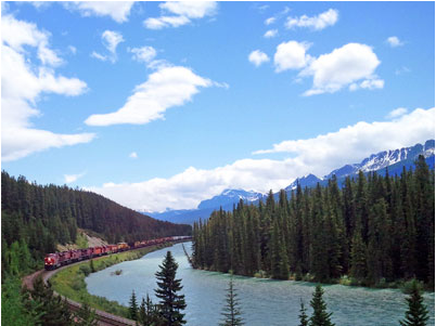 Canmore Bow River Train
